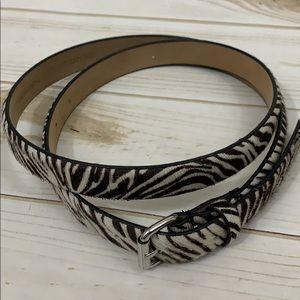 Cute Ann Taylor calf hair and leather belt - Sz L